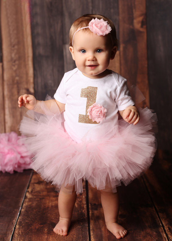 1 Year Old Birthday Baby Girl Party Dresses Outfits 2